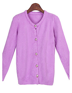 Women's Solid Color Blue / Pink / Green Sweaters , Casual Round Long Sleeve
