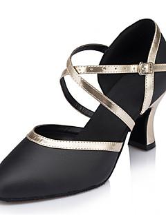 Damă Modern Piele reală Sandale Performanță Cataramă Toc Cubanez Negru 7cm Personalizabili