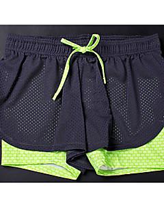 billige Løbetøj-Dame Løbeshorts Sport Shorts / Bukser / Hængende Shorts Yoga, Pilates, Træning & Fitness Åndbart, Blød, Strækbart Elastisk Sort + Lilla,