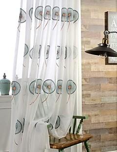 billige Vinduskolleksjoner-Propp Topp Dobbelt Plissert To paneler Window Treatment Moderne Neoklassisk Land, Mønstret Soverom Polyester Materiale Gardiner Skygge