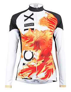 10c7f6fd8 ILPALADINO Women s Long Sleeve Cycling Jersey - Orange Rainbow Animal  Cartoon Plus Size Bike Jersey Top Breathable Quick Dry Sports 100% Polyester  Mountain ...
