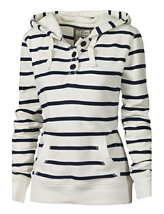 Women's Maternity Daily Casual Hoodie Striped Hooded Inelastic Cotton Long Sleeve Spring