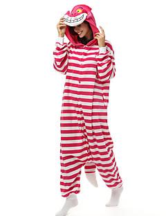 Kigurumi Pyjamas Kat Chesire Cat Kostume Polar Fleece Syntetisk Fiber Kigurumi Trikot / Heldraktskostymer Cosplay Festival / høytid