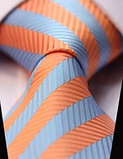 Miehet Vintage / Sievä / Juhla / Toimisto / Vapaa-aika Polyesteri Solmio-Raidoitettu