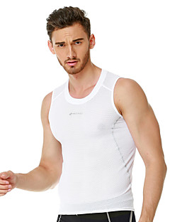 cheap Cycling Vest-Nuckily Sleeveless Cycling Vest - White Bike Vest/Gilet Jersey, Quick Dry, Anatomic Design, Breathable, Sweat-wicking, Reflective Strips