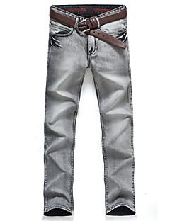 お買い得  メンズジーンズ-男性用 パンク&ゴシック プラスサイズ スリム ジーンズ パンツ ソリッド