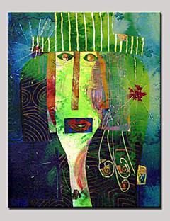 tanie Portrety abstrakcyjne-Ręcznie malowane Rysunek Pionowy, Nowoczesny Brezentowy Hang-Malowane obraz olejny Dekoracja domowa Jeden panel