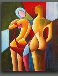 baratos Retratos Abstratos-Pintura a Óleo Pintados à mão - Retratos Abstratos Estilo Europeu Tela de pintura