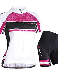 Nuckily Cycling Jersey with Shorts Women's Short Sleeves Bike Jersey Shorts Padded Shorts/Chamois Clothing Suits Waterproof Ultraviolet