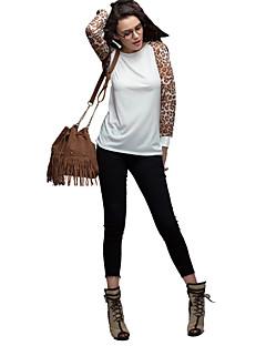 billige Plusstørrelser-Dame - Leopard Plusstørrelser Bluse
