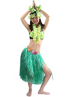 billige Halloweenkostymer-Hawaiisk Cosplay Kostumer / Party-kostyme Herre / Dame Halloween / Karneval Festival / høytid Halloween-kostymer Grønn / Blå / Regnbue