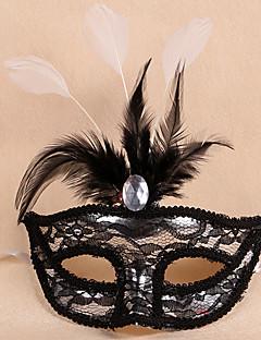 billige Halloweenkostymer-Karneval Maske Maskerade Herre Dame Halloween Karneval Festival / høytid Halloween-kostymer Hvit Rød Rosa Lilla Gylden+Svart Lapper