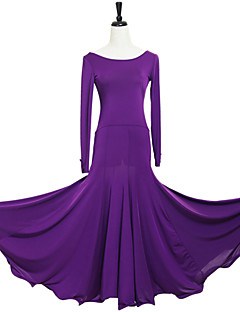 cheap New Arrivals-Ballroom Dance Dresses Women's Performance Polyester Spandex Draping Dress