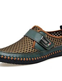 Açık Hava Ofis ve Kariyer Elbise Rahat Atletik-Rahat Gladyatör Kaykay Ayakkabıları-Tüylü Tül-Düz Topuk-Kahverengi Yeşil Gri-Erkek
