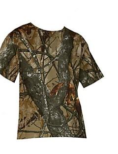 tanie Odzież myśliwska-Męskie Koszulka myśliwska moro Na wolnym powietrzu Keep Warm Polarowa podszewka Anti-Insect Oddychający Szorty T-shirt Zestawy odzieży