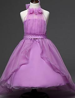 Bloemen -Polyester-Zomer-Girl's-Jurk-Blauw / Roze / Paars / Rood / Wit / Geel