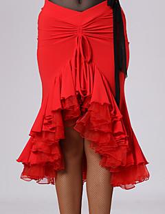 ラテンダンス チュチュスカート 女性用 ダンスパフォーマンス ビスコース ドレープ 1個 ナチュラルウエスト スカート