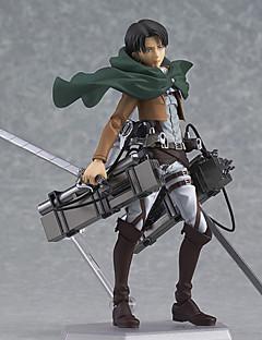 billige Anime cosplay-Anime Action Figurer Inspirert av Attack on Titan Eren Jager PVC 14 cm CM Modell Leker Dukke
