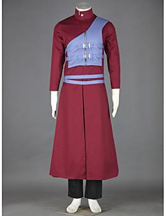 """Inspirert av Naruto Gaara Anime  """"Cosplay-kostymer"""" Cosplay Klær Lapper Frakk Vest Bukser Belte Til Mann"""
