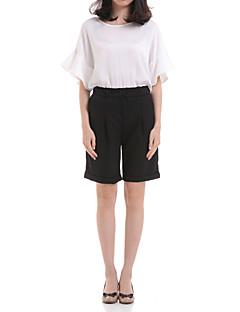 abordables -Femme Non Elastique Jeans Pantalon,Polyester Eté Couleur Pleine