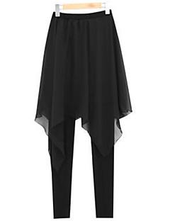 婦人向け プラスサイズ / ストリートファッション スキニー / ハーレム パンツ,ポリエステル / スパンデックス 伸縮性あり