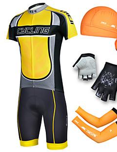 billige Sykkelklær-cheji® Herre Kortermet Sykkeljersey med shorts - Svart Sykkel Shorts Jersey Klessett, 3D Pute, Fort Tørring, Ultraviolet Motstandsdyktig,