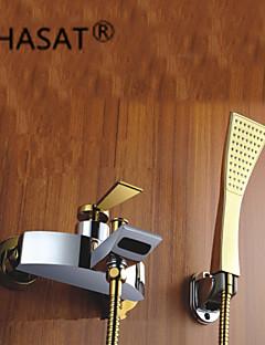 baratos Cascata-Torneira de Banheira - Moderna Cromado Montagem de Parede Válvula Cerâmica