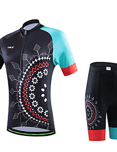 cheji® Cycling Jersey with Shorts Women's Short Sleeves Bike Clothing Suits Quick Dry Ultraviolet Resistant Breathable Soft Lightweight