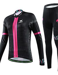cheji® Calça com Camisa para Ciclismo Mulheres Manga Longa Moto Conjuntos de Roupas Secagem Rápida Resistente Raios Ultravioleta