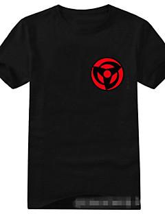 """Inspirert av Naruto Sasuke Uchiha Anime  """"Cosplay-kostymer"""" Cosplay T-skjorte Trykt mønster Kortermet T-Trøye Til Unisex"""