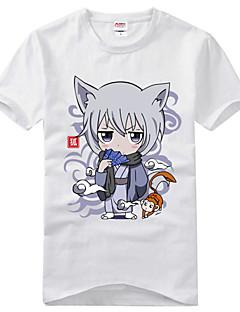 """billige Anime cosplay-Inspirert av Kamisama Kiss Tomoe Anime  """"Cosplay-kostymer"""" Cosplay T-skjorte Trykt mønster Kortermet T-Trøye Til Herre Dame"""