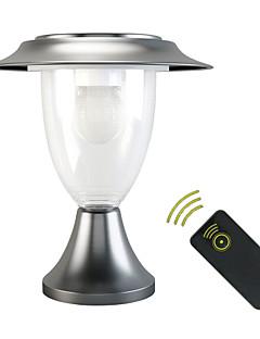 billige Lampestolper-1 stk Dekorations Lys / LED Solcellebelysning Soldrevet / Batteri Fjernstyrt / Oppladbar / Mulighet for demping