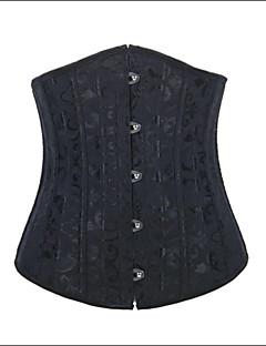 אישה מחוך מתחת לחזה Nightwear סרוג כותנה / ניילון / פוליאסטר / מודל שחור נשים