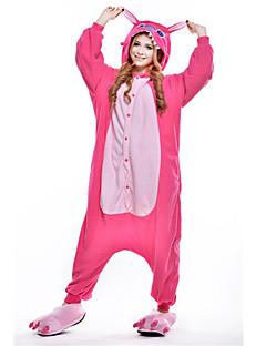 billige Kigurumi-Kigurumi-pysjamas Blå Monster Onesie-pysjamas Kostume Polar Fleece Rosa Cosplay Til Pysjamas med dyremotiv Tegnefilm Halloween Festival /