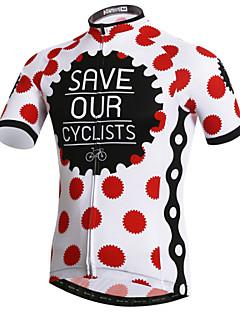 זול בגדי רכיבת אופניים-XINTOWN בגדי ריקוד גברים שרוולים קצרים חולצת ג'רסי לרכיבה אופניים ג'רזי, ייבוש מהיר, עמיד אולטרה סגול, נושם