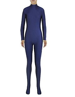 levne -Zentai kombinézy Morf Ninja Zentai Cosplay kostýmy Inkoustová modř Jednobarevné Leotard/Kostýmový overal Zentai Spandex Lycra Unisex