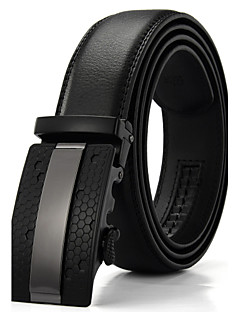cheap -Men's Party / Work / Active Leather / Alloy Waist Belt - Solid Colored / Basic / Black / Yellow