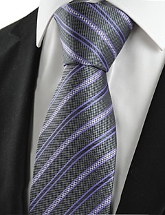 billige Slips og sløyfer-Herrer Slips,Vintage / Søtt / Fest / Kontor / Fritid Bomull / Polyester / Rayon,Stripet
