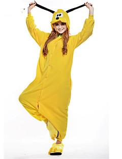 billige Kigurumi-Kigurumi-pysjamas Hund Onesie-pysjamas Kostume Polar Fleece Gul Cosplay Til Voksne Pysjamas med dyremotiv Tegnefilm Halloween Festival /