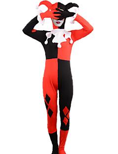 Fantasias de Cosplay Super-Heróis Cosplay de Filmes Vermelho Patchwork Malha Collant/Pijama Macacão / MáscaraDia Das Bruxas / Natal / Ano