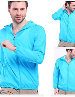 Men's Hiking Jacket Waterproof Quick Dry Ultraviolet Resistant High Breathability (>15,001g) Breathable Outdoor Windbreaker Top for Yoga