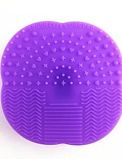 billiga Sminkborstar-1st multifunktion silikon smink kosmetisk borste ägg rengöringsduk tvätt smink borste skrubber