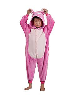 cheap Halloween & Carnival Costumes-Monster Onesie Pajamas Costume Flannel Toison Pink Cosplay For Kid's Animal Sleepwear Cartoon Halloween Festival / Holiday
