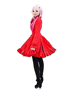 Inspired by Guilty Crown Inori Yuzuriha Anime Cosplay Costumes Dresses Solid Dress For Female