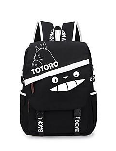 Veske Inspirert av Min nabo Totoro Kat Anime Cosplay-tilbehør Veske ryggsekk Lerret Mann Kvinnelig