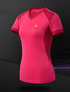 cheap Hiking T-shirts-Women's Hiking T-shirt Outdoor Breathable Sweat-wicking T-shirt Top Camping / Hiking Climbing Leisure Sports Cycling / Bike Running