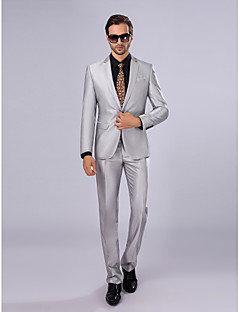 Solid Slim Fit Suit - Slim Notch Single Breasted One-button
