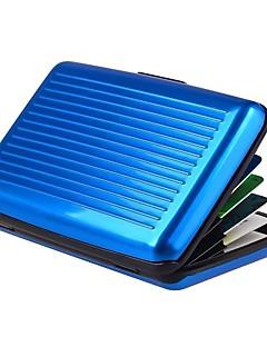 Unissex Bolsas Primavera Verão Outono Todas as Estações Metal Porta Cartão para Compras Casual Esportes Formal Uso Profissional Prata