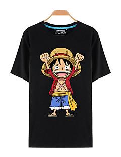 """billige Anime Kostymer-Inspirert av One Piece Monkey D. Luffy Anime  """"Cosplay-kostymer"""" Cosplay T-skjorte Trykt mønster Kortermet Topp Til Unisex"""