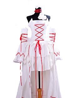 """billige Anime Kostymer-Inspirert av Pandora Hjerter Alice Anime  """"Cosplay-kostymer"""" Cosplay Klær Ensfarget Ermeløs Kjole / Ermer / Halskjeder Til Dame Halloween-kostymer / Satin"""